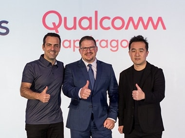 Facebook VP of VR Hugo Barra, Qualcomm Incorporated President Cristiano Amon, and Xiaomi VP Thomas Tang at CES 2018. Image: Oculus