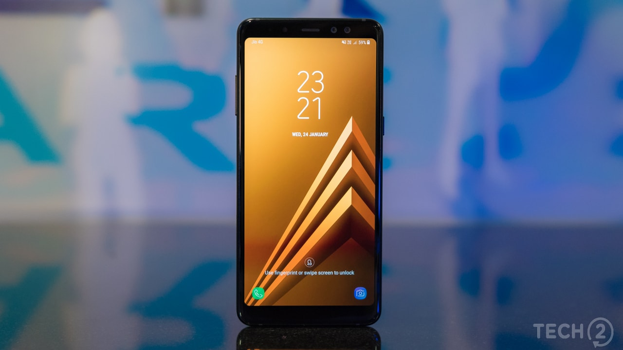The Samsung Galaxy A8 Plus replaces last year's Galaxy A7 which was also launched at a similar price. Image: tech2/ Rehan Hooda