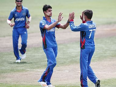 Afghanistan captain Naveen-ul-Haq took 2/30 to help restrict Pakistan to 188. Getty images