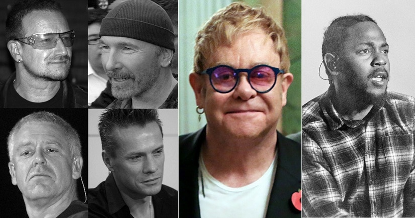 U2, Elton John, Kendrick Lamar will perform at the Grammys