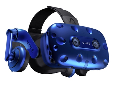 HTC launches Vive Pro VR headset with built-in headphones and improved resolution at CES 2018