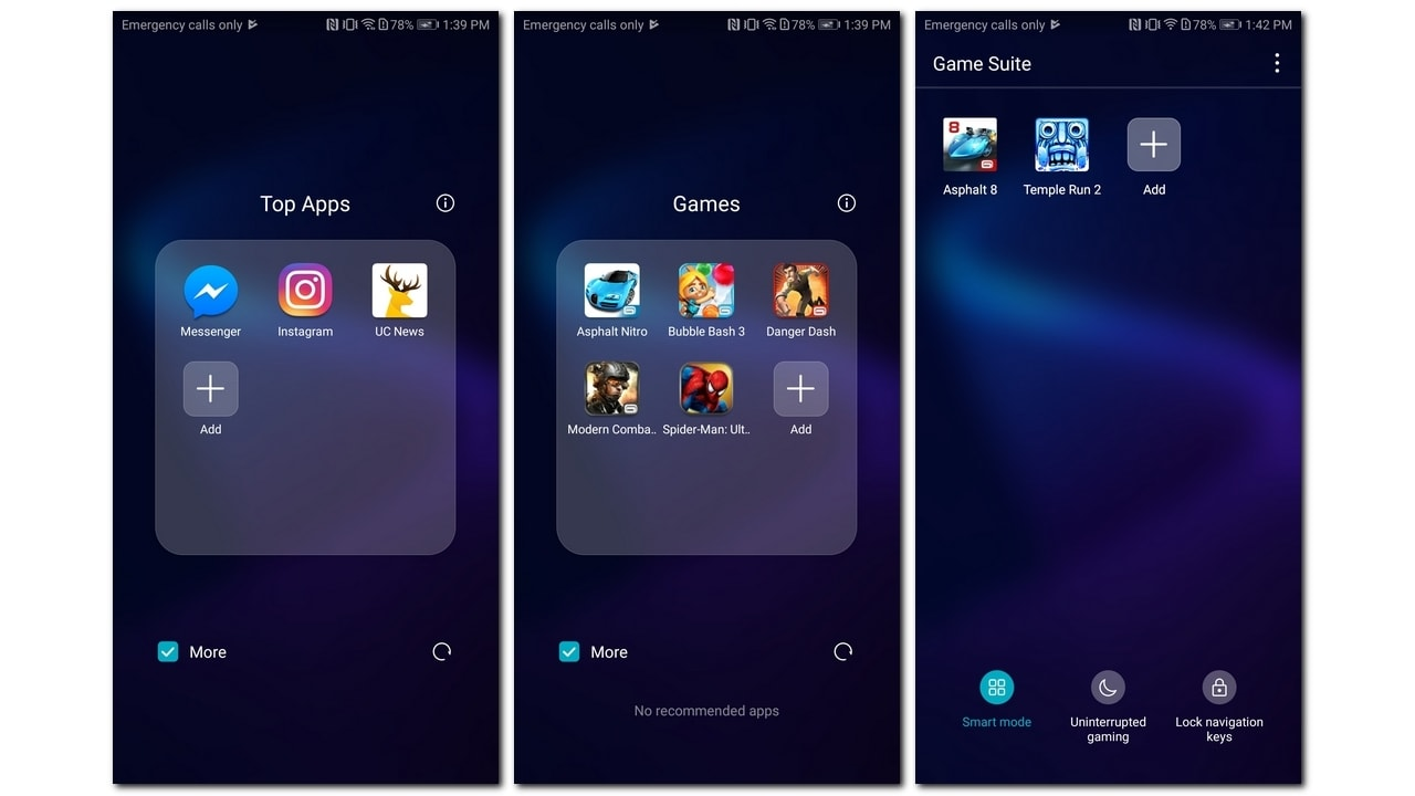 Pre-installed apps and games on View 10.