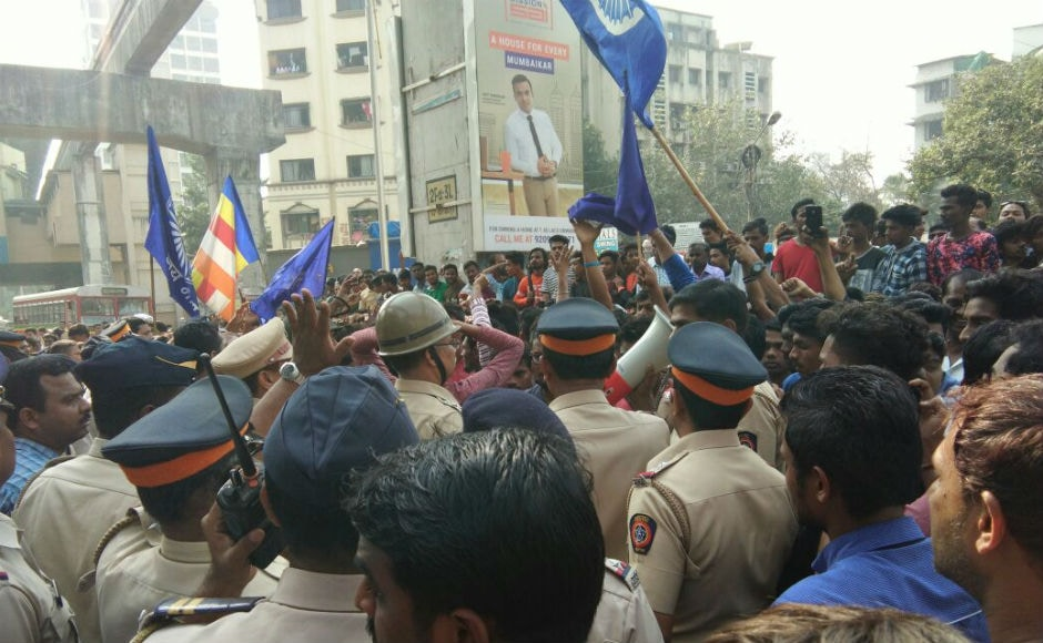 In Mumbai, protests and road blockades brought the city to a halt. Shops and business establishments were shut after the protest turned violent in several parts of Mumbai including Chembur, Vikhroli, Mankhurd and Govandi. Geeta Desai/101reporters