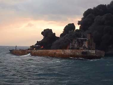 Iranian oil tanker Sanchi burst into flames from end to end and sank eight days after a collision with a cargo ship off China. AP