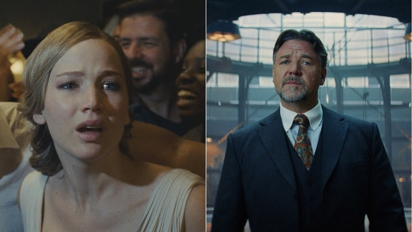 Jennifer Lawrence in mother! and Russell Crowe in Mummy