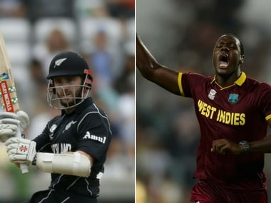 New Zealand captain Kane Williamson and Windies skipper Carlos Carlos Brathwaite. Agencies