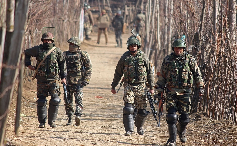 The army on Tuesday said that two militants were killed in an encounter with security forces in Anantnag district of Jammu and Kashmir. Firstpost/Sameer Mushtaq