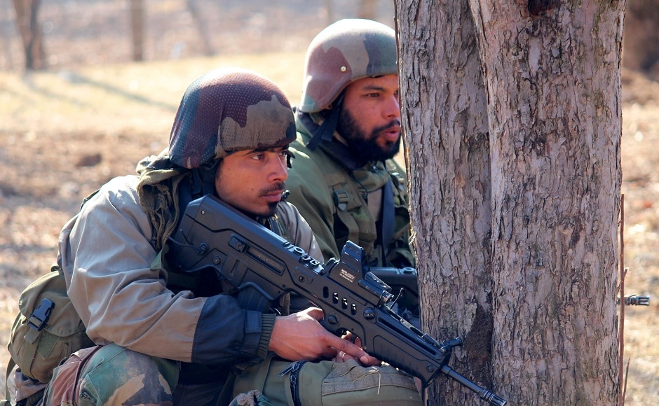 The Jammu and Kashmir Police said that a regular cordon and search operation launched in the forest area of Kokernag in Anantnag turned into an encounter. Firstpost/Sameer Mushtaq