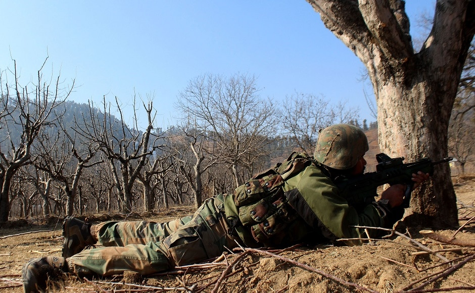 A joint team of the military's Rashtriya Rifles, the Central Reserve Police Force and the Jammu and Kashmir Police were involved in the operation. Firstpost/Sameer Mushtaq