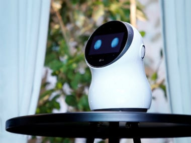 LG's Cloi home robot is displayed during an LG news conference at the 2018 CES. Reuters.