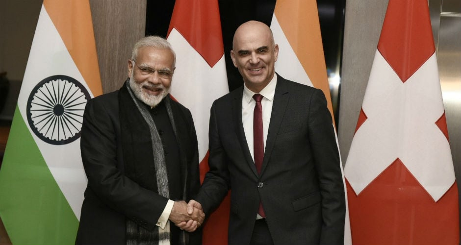 After arriving at Davos, Modi met Swiss President Alain Berset and discussed ways to deepen bilateral ties on the sidelines of the World Economic Forum (WEF) annual summit. Twitter @meaindia