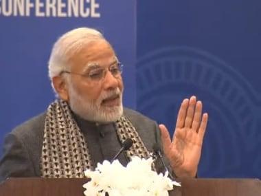 Narendra Modi at the PIO conference. Twitter @BJP4India