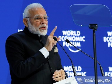 Narendra Modi at the Opening Plenary during the World Economic Forum (WEF) annual meeting in Davos, Switzerland. Reuters