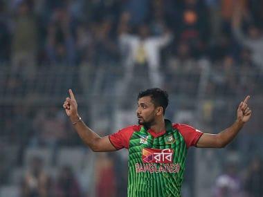 Bangladesh's captain Mashrafe Mortaza in action during the Tri-Nation series. AP