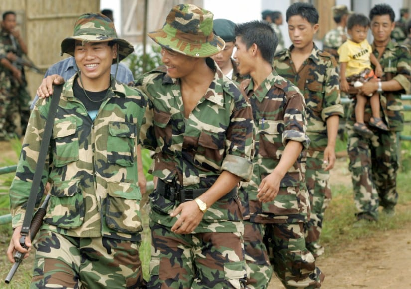 A 2005 image of Naga rebels celebrating the 58th anniversary of unilateral day of independence at Hebron Camp in Nagaland. Fifty-eight years ago, just hours before India won independence from Britain, Christian Naga separatists declared they did not want to be part of the new Hindu-dominated nation. Reuters