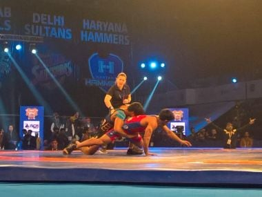 Nitin Kale won 8-7 in the decider to take UP Dangal to victory. Image courtesy: Twitter/@Official_PWL