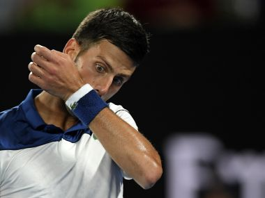Novak Djokovic was returning to action in Melbourne from six months out with a right elbow injury. AP