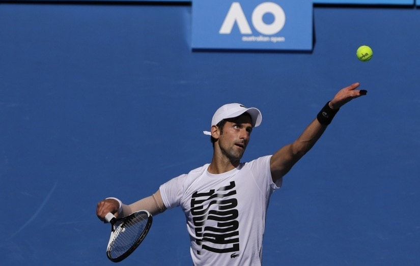 Novak Djokovic has remodelled his serve to protect his elbow and is going for a record seventh Australian Open title. AP