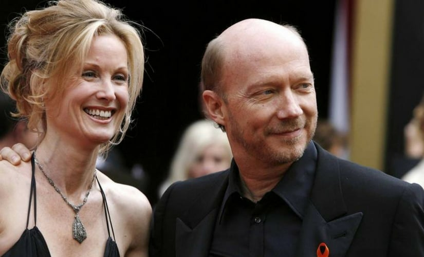 Paul Haggis and his wife Deborah Rennard at the 2008 Academy Awards/Image from Twitter.