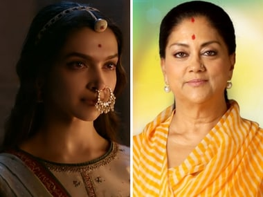 Padmavat won't be released in Rajasthan as a mark of respect to sentiments of people, says CM Vasundhara Raje Scindia