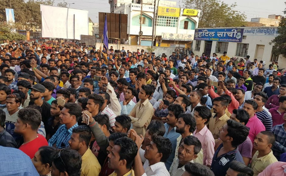 Protests also rocked Aurangabad on Tuesday, forcing police to impose Section 144 in several parts the city. Aarteeshymal Joshi/ 101Reporters