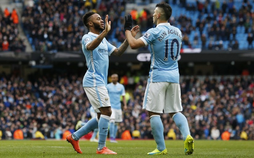 Raheem Sterling and Sergio Aguero will be crucial for Manchester City when they travel to Anfield. Reuters