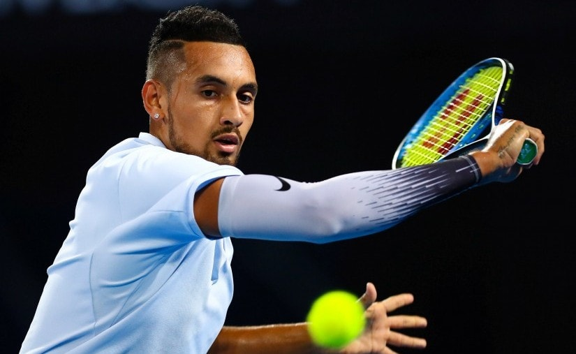 Nick Kyrgios has never made it past the quarter-finals at a Major but he is entering the Australian Open in a confident state of mind. AP