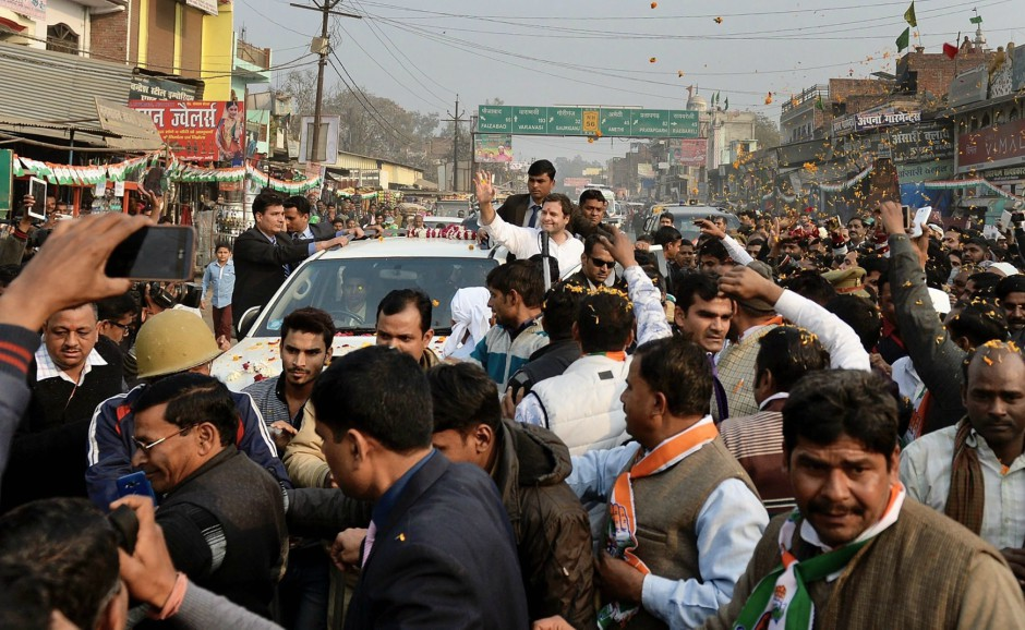 Rahul Gandhi in Amethi: Congress chief attacks BJP govt's policies as clashes break out between party workers