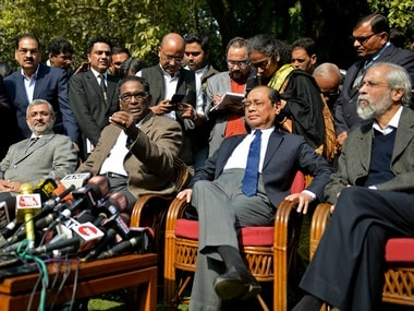 The press conference held by the four Supreme Court judges. Reuters