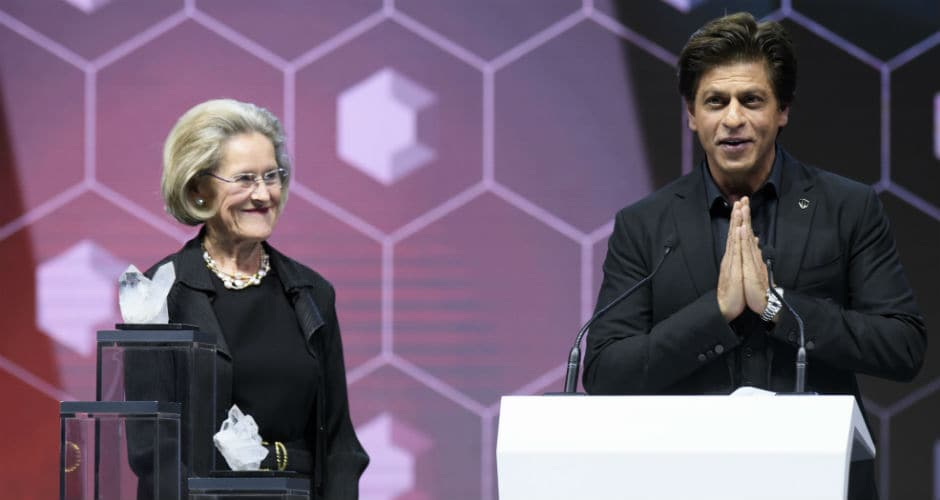 Shah Rukh was presented the award for