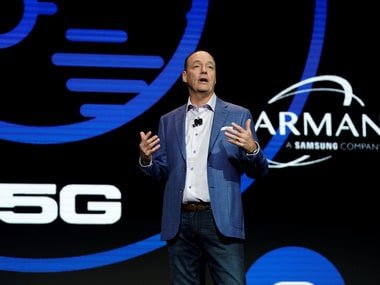 Tim Baxter, CEO of Samsung Electronics North America,  at CES 2018.