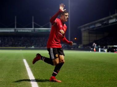 Manchester United's Alexis. Reuters