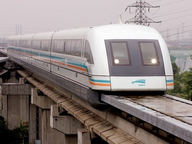 China has approved the technical plan to build a magnetic levitation train that can run at 600 kmph