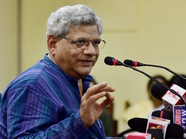 Sitaram Yechury accuses BJP of supporting vigilante groups, says party wants to divert attention from economic issues