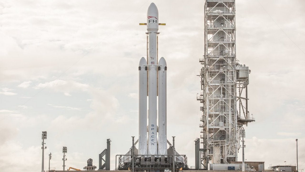 The SpaceX Falcon Heavy. SpaceX