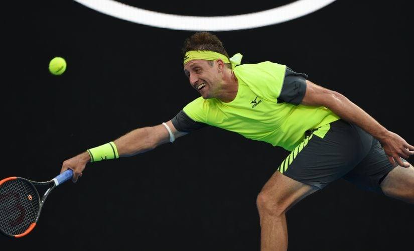 Tennys Sandgrenhas shown there's more to him than a catchy name. AFP