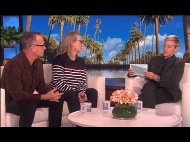Watch: The Post stars Meryl Streep, Tom Hanks display impeccable acting skills on The Ellen Show