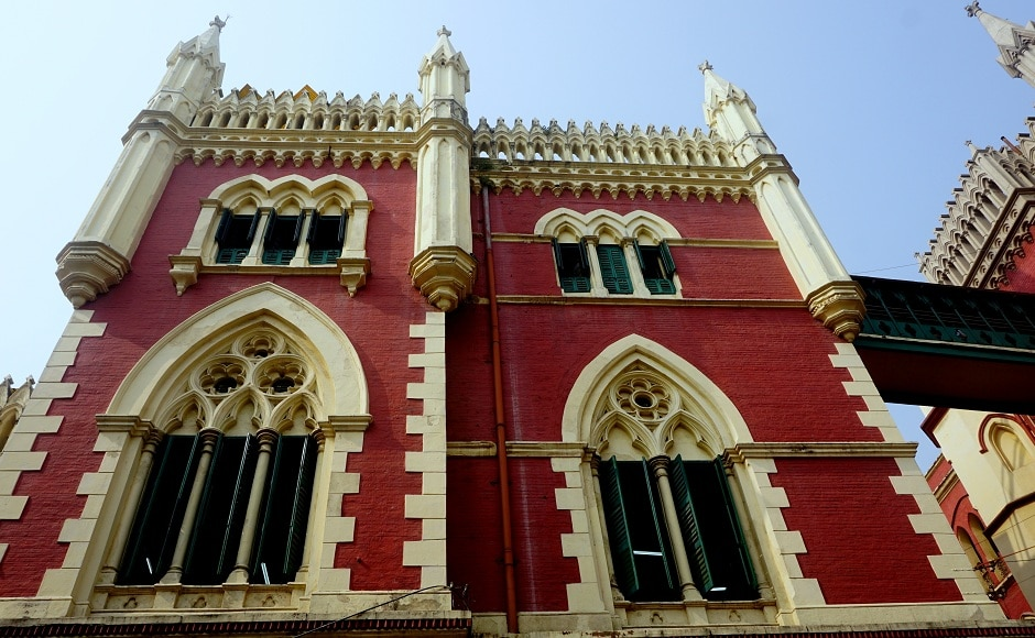 India's first Supreme Court in Kolkata, completed in 1872, was housed in a building copied from the Cloth Hall in Ypres, Belgium. Kolkata's colonial era architecture forms a mélange of numerous European and Asian styles. Image from AP