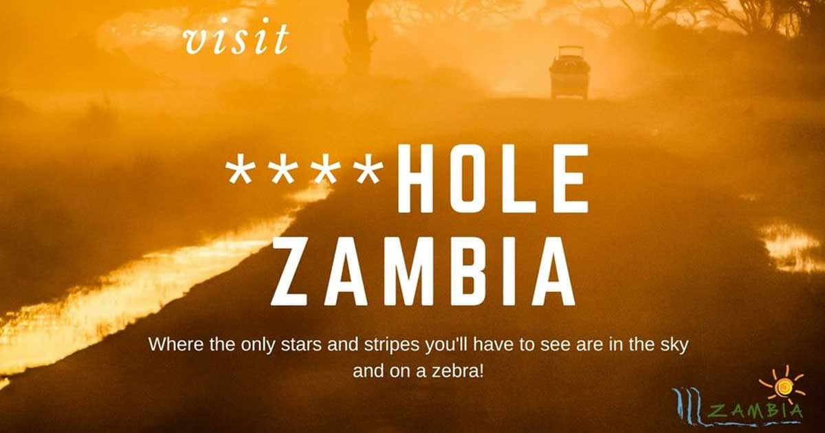 Image result for visit shithole zambia