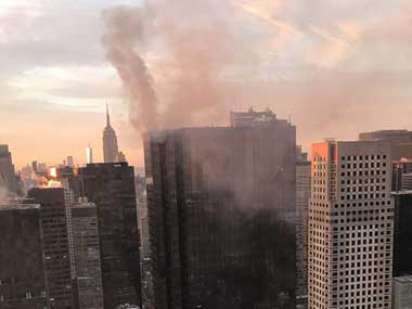 Blaze at Trump Tower in Manhattan: Two injured, Eric Trump says firefighters doing 'incredible job'