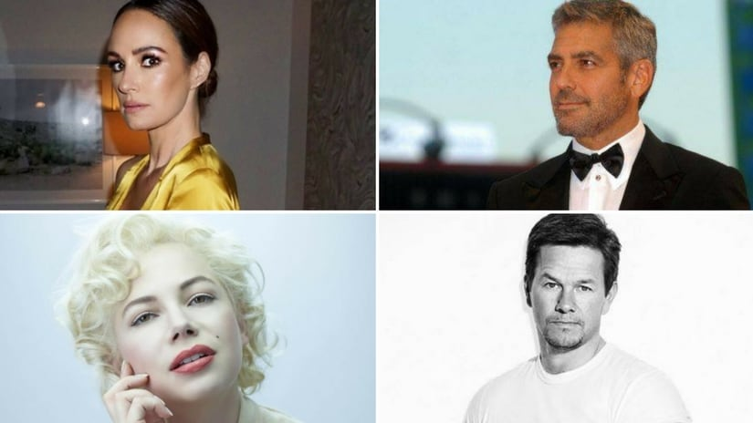 Representational image | Catt Sadler, George Clooney, Mark Wahlberg and Michelle Williams. Facebook