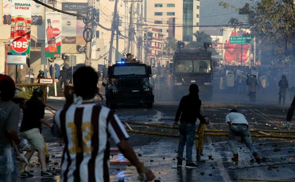 Protests against Honduran president Juan Orlando Hernandez's re-election turn violent
