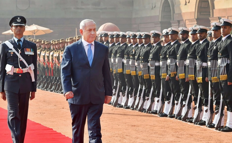 Benjamin Netanyahu in India: Israeli prime minister inspects guard of honour at Rashtrapati Bhavan