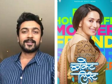 Suriya's Pongal wishes; Madhuri Dixit unveils first look of Bucket List: Social Media Stalkers' Guide