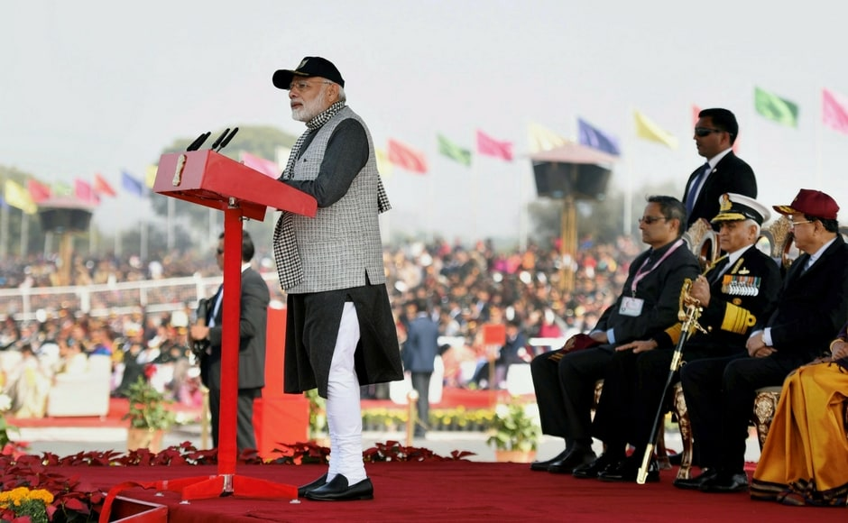 Addressing the NCC rally in New Delhi, Modi said he has been a part of the corps and the spirit should remain imbibed with cadets for life. The PM also sought youths' cooperation in his fight against corruption and made a strong pitch for the use of Aadhaar, stating it has added great strength to India's development. PTI