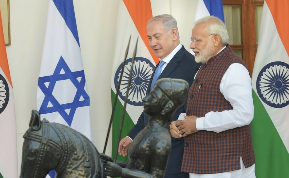 Netanyahu arrived in Delhi on Sunday on a six-day visit with a delegation of senior Israeli officials and high-level businesses. During his stay, the Israeli prime minister will also visit Gujarat and Mumbai. PTI