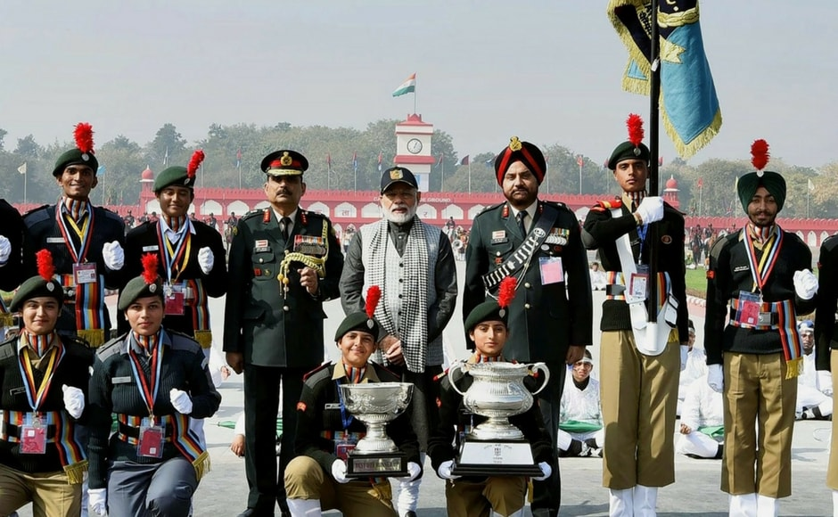 Defence Minister Nirmala Sitharaman, her deputy Subhash Bhamre, Army chief General Bipin Rawat, Navy chief Admiral Sunil Lanba and Air Force chief BS Dhanoa also attended the NCC rally. PTI