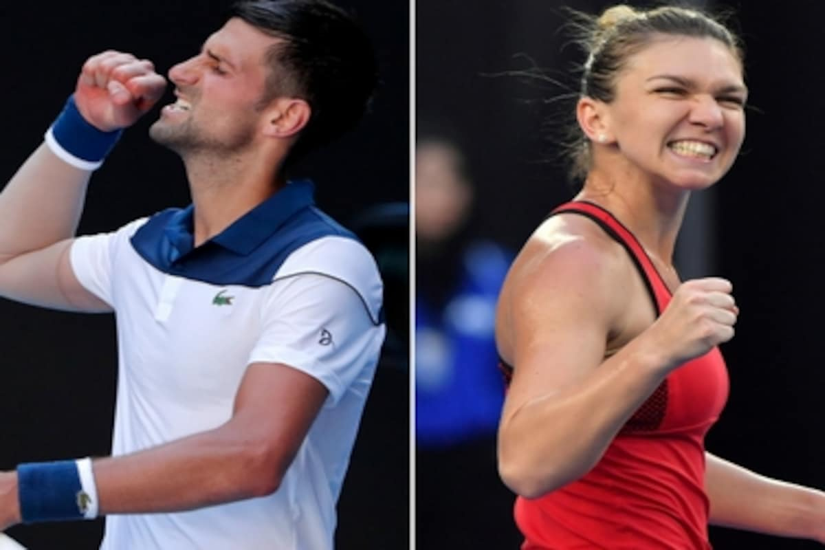 Australian Open 2018 Novak Djokovic Survives Melbourne Heat To Beat Gael Monfils Simona Halep Cruises Sports News Firstpost