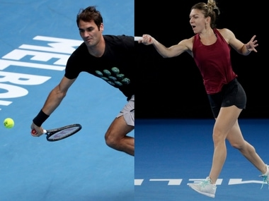Defending champion Roger Federer and top seed Simona Halep will be in action on Day 2. AP
