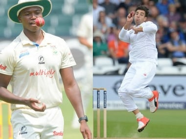 File image of Lungi Ngidi and Duanne Olivier. Image courtesy: Twitter @OfficialCSA and @Titans_Cricket